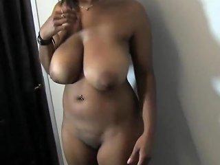 Amateur Busty Ebony Fucks Her Man In The Office
